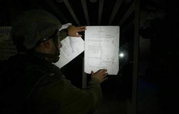 فلسطين المحتلة- من اقتحام قوات الاحتلال مدينة رام الله المحتلة