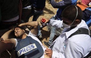 ارتفاع حصيلة شهداء الجمعة الثانية لمسيرات العودة إلى (10) بينهم مصوّر صحفي