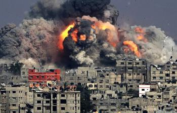خلال العدوان الصهيوني على غزة