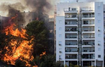 حيفا المحتلة- انتشار الحرائق في عدد كبير من الأحياء في حيفا المحتلة
