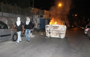 المواجهات في حي الثوري ببلدة سلوان بالقدس المحتلة