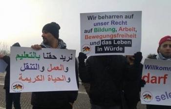 لاجئون فلسطينيون يعتصمون في برلين للمطالبة بالالتفات إلى وضعهم