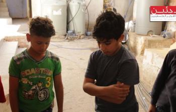 من أطفال مخيم مارالياس للاجئين الفلسطينيين