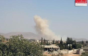 مخيم خان الشيح.. قصف مروحي ومدفعي على المزارع المحيطة والأضاع الإنسانية في تدهور