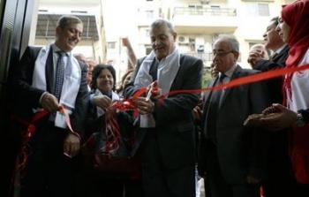 الصورة خلال افتتاح وحدة رعاية الكلى في مخيم البداوي