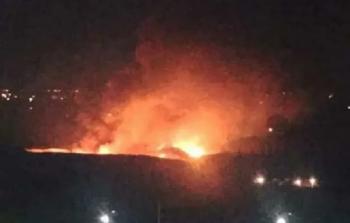 القوات الصهيونية تستهدف مطار المزة بصواريخ