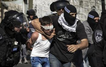 اعتقال الاطفال الفلسطينيين في القدس المحتلة