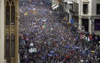 مظاهرة في برشلونة للمطالبة باستقبال اللاجئين