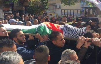أهالي طولكرم يُشيّعون جثمان الشهيد الأسير محمد الجلّاد