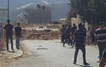 فلسطين المحتلة-مدخل قرية كوبر شمال غرب رام الله المحتلة