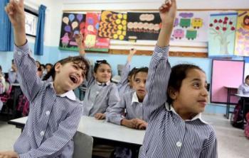 صورة أرشيفية لاحدى مدارس الاونروا في قطاع غزة