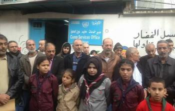 إعتصام للمطالبة بترميم البيوت المهددة بالسقوط في مخيم عين الحلوة