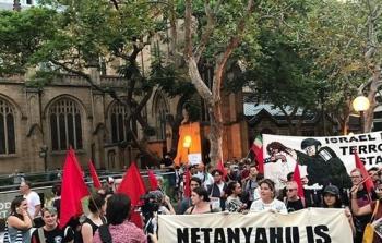 سيدني تتظاهر احتجاجاً على زيارة نتنياهو لأستراليا