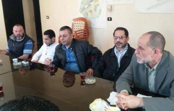 خلال اللقاء في مقر اللجنة الشعبية في مخيم نهر البارد
