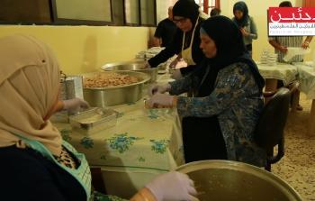 خلال إعداد وجبات الإفطار في رابطة ترشيحا