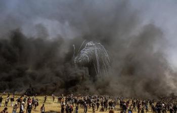 من مسيرات العودة في قطاع غزة - تصوير محمد الثلاثيني