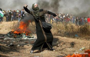 خلال المواجهات مع الاحتلال على الحدود الشرقية لقطاع غزة