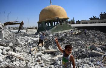 من الأرشيف احدى المناطق المدمرة في قطاع غزة إثر العدوان الصهيوني