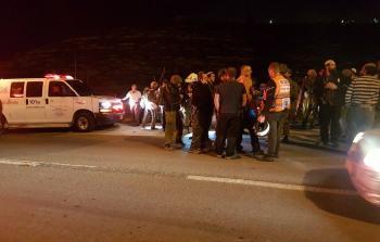 إصابات في عملية إطلاق نار جنوبي نابلس المحتلة
