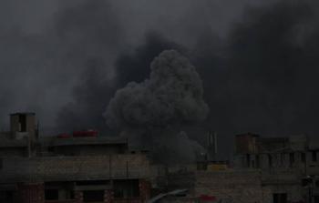 خلال القصف على مخيم اليرموك