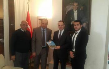 وفد من مؤسسة شاهد مع المستشار الأول في السفارة التركية في لبنان