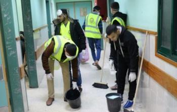 خلال عملية التنظيف