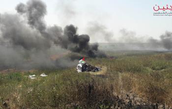 الاطارات المشتعلة على حدود قطاع غزة