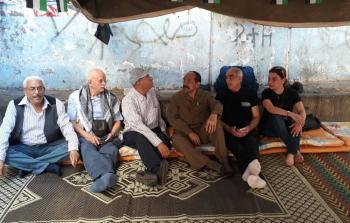خيمة الاعتصام في مخيم شاتيلا