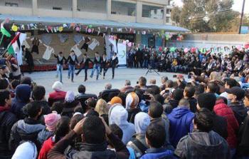 مؤسسة جفرا تقيم حفلاً للأطفال في مخيم جرمانا بمناسبة اليوم العالمي لحقوق الإنسان