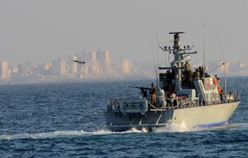 أرشيفية- زوارق الاحتلال في بحر شمال غزة تحاول إغراق مراكب الصيادين