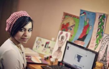 الفنانة الفلسطينية ملك مطر