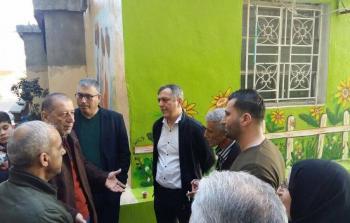 مدير عام الاونروا في لبنان خلال جولة تفقدية في مخيم عين الحلوة