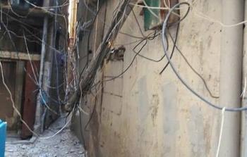 إنهيار جدار مبنى في مخيّم شاتيلا