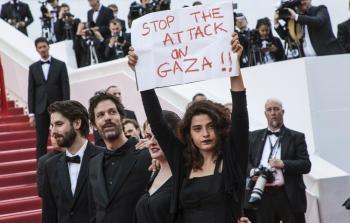 وقفة صمت في مهرجان كان السينمائي حداداً على أرواح شهداء غزة