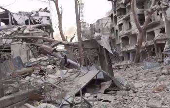 مما تبقّى في مخيّم اليرموك
