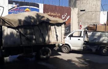 إجراءات عسكريّة لبنانية على خروج شاحنات النفايات من مخيم عين الحلوة