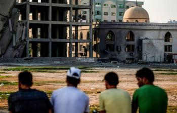 فلسطين المحتلة - آثار استهداف الاحتلال لأرض الكتيبة بمدينة غزة مساء السبت
