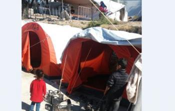 لاجئون في  جزيرة ميتيليني