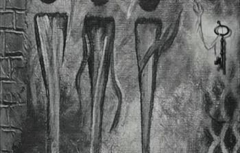اللوحة للفنانة ربا محمود رضا
