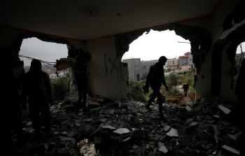 منزل الشهيد أشرف نعالوة في ضاحية شويكة بطولكرم المحتلة عقب قيام قوات الاحتلال بهدمه
