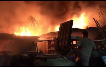 اخماد حريق في مخيم برج البراجنة