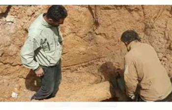 العمل على إصلاح خطوط المياه في محيط المخيّم