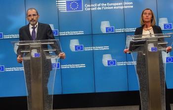 وخلال مؤتمر صحفي مشترك مع مفوضة السياسة الخارجية للاتحاد الأوروبي