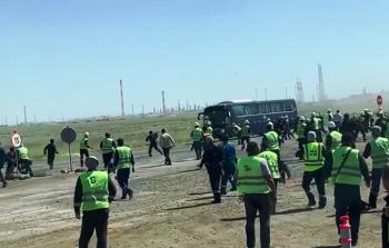 الخارجية الفلسطينية: عمّال ومهندسو اعتداء كازخستان نُقلوا لقاعدة عسكرية