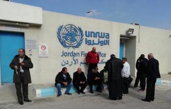 لاجئون فلسطينيون من سوريا إلى الأردن يعتصمون أمام مقر