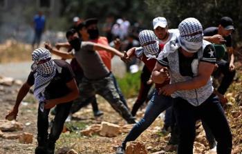 من المواجهات التي اندلعت في كفر قدوم بالضفة المحتلة الجمعة 12/7/2019