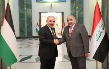 لقاء  أشتيّة مع رئيس الوزراء العراقي عادل عبد المهدي