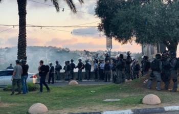 شرطة الاحتلال تقمع تظاهرة ضد الهدم في عرعرة المُحتلّة