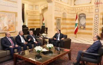اجتماع الحريري بوفد المؤتمر الشعبي لفلسطينيي الخارج