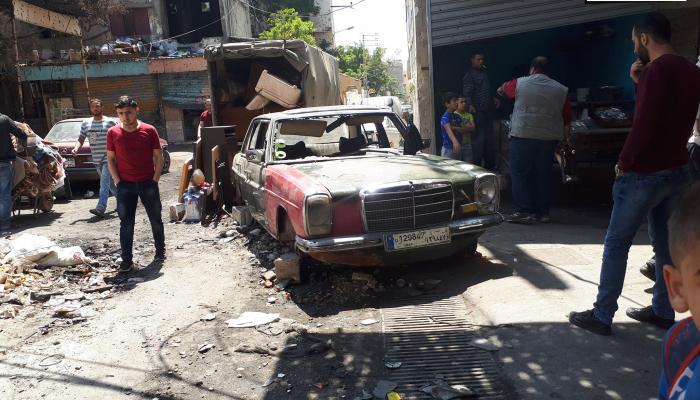 الأضرار الناتجة عن الاشتباكات الاخيرة في حي الطيرة بمخيم عين الحلوة
